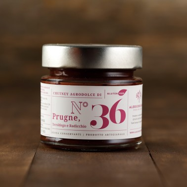Plums, Radicchio and Teroldego Wine Chutney di Alessio Brusadin