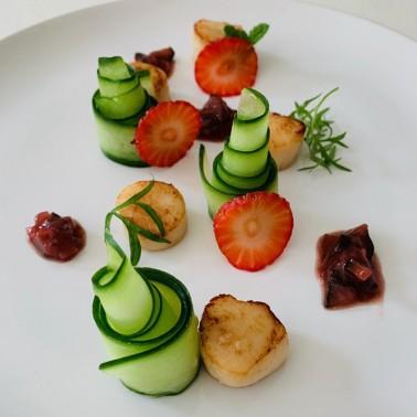Strawberries, Cucumber and Mint Chutney di Alessio Brusadin