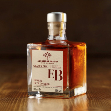 """Grappa """"EB"""" with prunes and quince pears di Alessio Brusadin"""