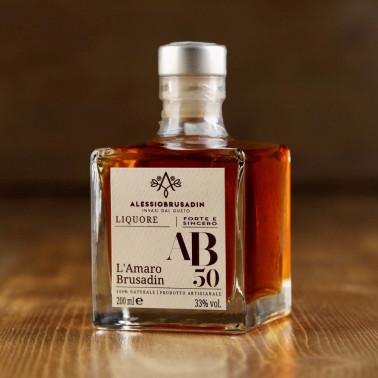 "Liquor ""AB50"" l'amaro Brusadin 200 ml di Alessio Brusadin"