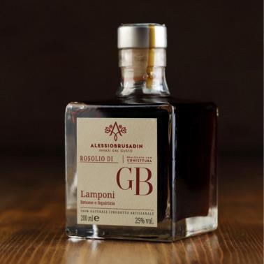 """Rosolio """"GB"""" di Lamponi, Limone e Liquirizia 200 ml di Alessio Brusadin"""