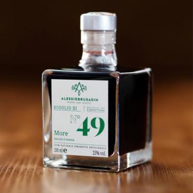 Rosolio n°49 blackberry, lemon and mint 200 ml di Alessio Brusadin