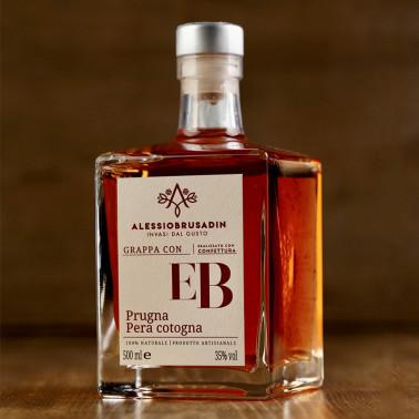 """Grappa """"EB"""" con Prugna e Pera Cotogna 500 ml di Alessio Brusadin"""