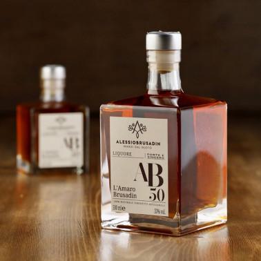 "Liquor ""AB50"" l'amaro Brusadin 500 ml di Alessio Brusadin"
