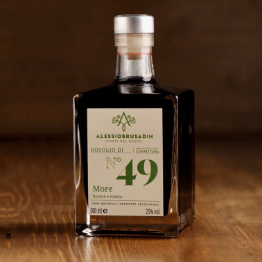 copy of Rosolio n°49 blackberry, lemon and mint 500 ml di Alessio Brusadin
