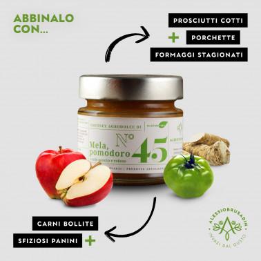 Apples, Green Tomatoes and Horseradish Chutney di Alessio Brusadin